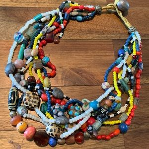 Vintage Multi Strand African Colorful Beads